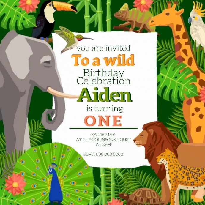 Kids Birthday Invite DESIGN template Logo