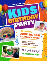 17 470 customizable design templates for kids birthday party