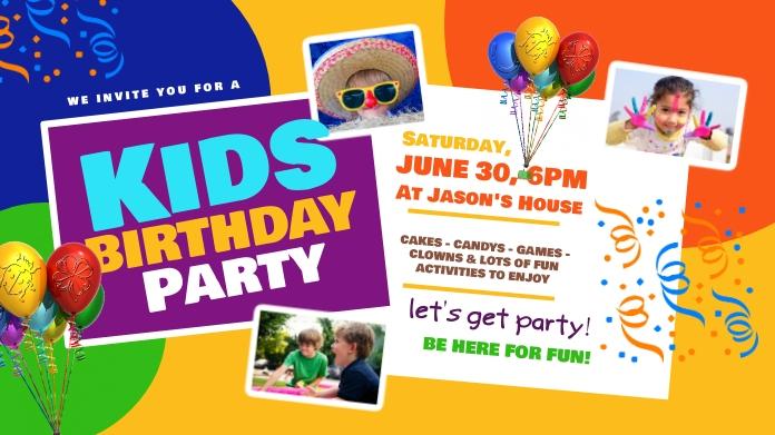 Kids Birthday Twitter Post template