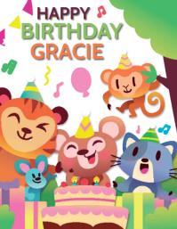 KIDS BIRTHDAY WISHES Flyer Template