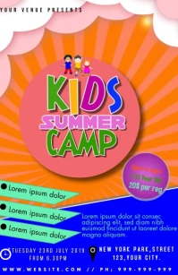 KIDS CAMP Halv side bred template