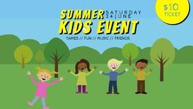 kids camp fest event facebook cover template video