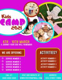 Kids Camp Flyer Poster Printable Template