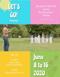 Kids Camp Summer Video Flyer Template