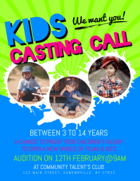 Kids Casting Call Flyer