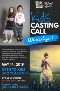 Kids Casting Call Poster
