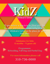 Kids Childcare Center Flyer (US-Letter) template