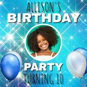 KIDS CHILDREN BIRTHDAY TEMPLATE
