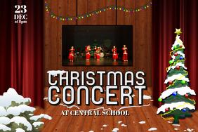 Kids Children Christmas Concert Play Flyer Poster Template