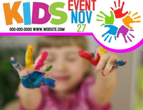 KIDS CHILDREN FEST FESTIVAL FLYER TEMPLATE