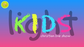 KIDS CHURCH YouTube-Kanal-Coverfoto template