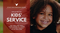 KIDS CHURCH flyer Digital Display (16:9) template