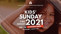 KIDS church flyer Digital na Display (16:9) template