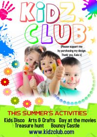 Kids club flyer A5 template