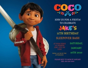 Kids Coco Birthday Invitation Template