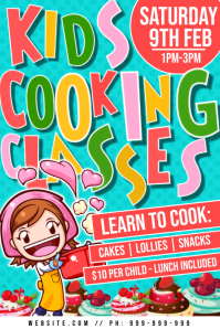 Kids Cooking Classes Poster