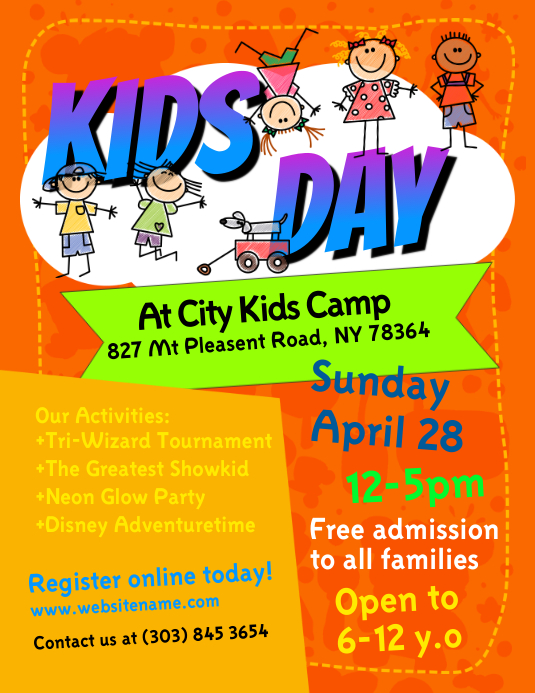 Kids Day Flyer template