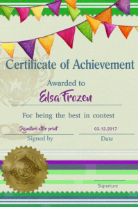 Customizable design templates for certificate postermywall kids diploma certificate template yadclub Image collections