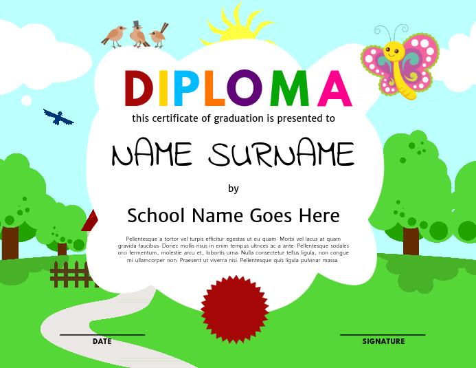 Kids Diploma Template