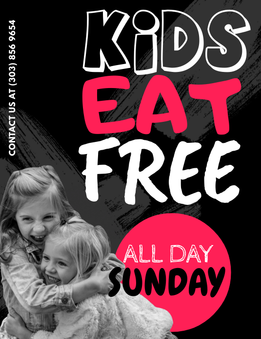 Kids Eat Free Flyer Template Postermywall