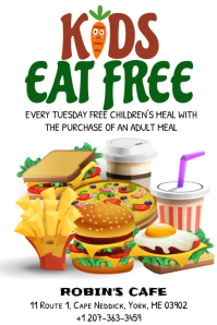Kids Eat Free Poster Template