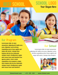 Kids Education School Flyer Template Design