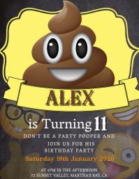 Kids Emoji Birthday Invitation Template