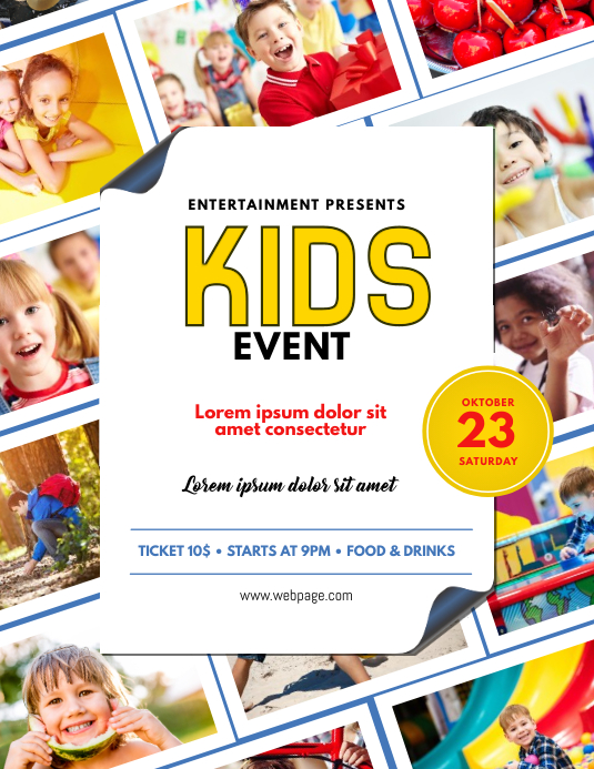 Kids Event Flyer Templae
