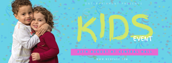 Kids Event Party Facebook Cover Template