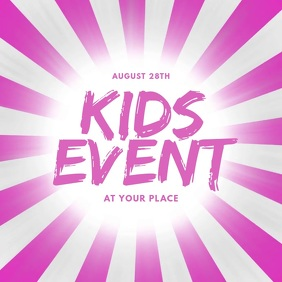 Kids Event Video Design Template Instagram