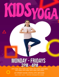 1 960 Kids Yoga Customizable Design Templates Postermywall
