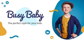 Kids Fashion Clothing Line Facebook Shop Cove template