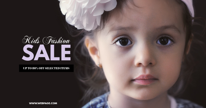 Kids Fashion Sale facebook post Template