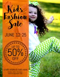 Kids Fashion Sale Flyer