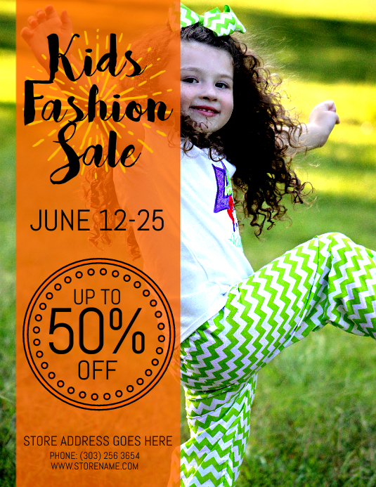 Kids Fashion Sale Flyer template | PosterMyWall