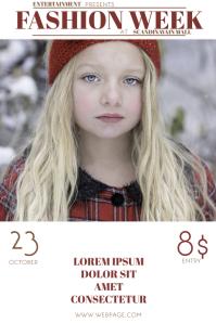 kids fashion week flyere template