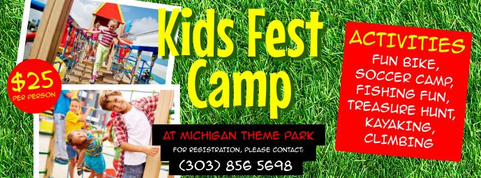 Kids Fest Camp Facebook Cover template