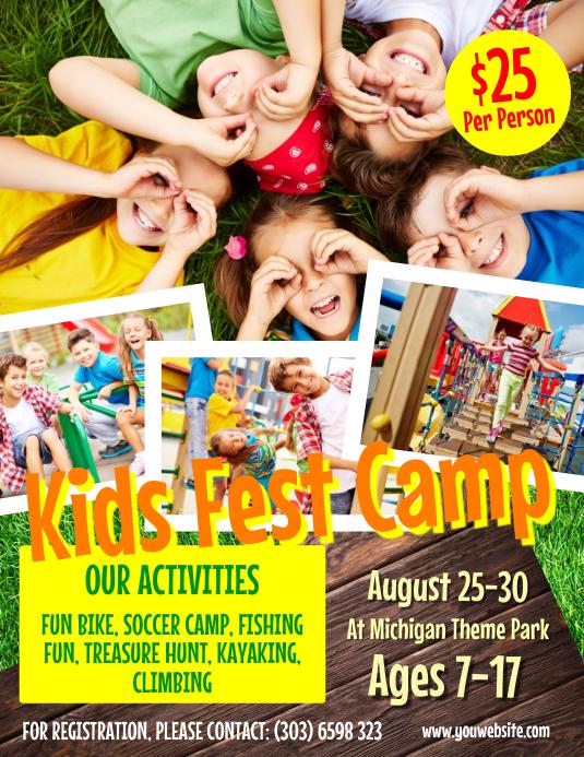 Kids Fest Camp Flyer Template