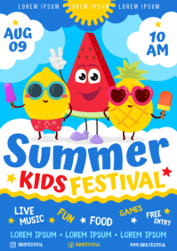 KIDS FEST POSTER A4 template
