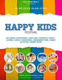 Kids Festival Flyer Template Pamflet (VSA Brief)