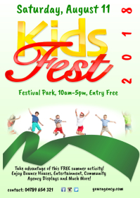Kids Festival Poster Template A4