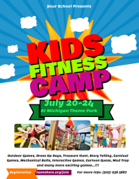 Kids Fitness Camp Flyer Template