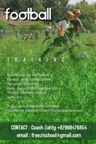 Kids football training poster 2