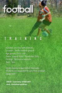 Kids football training poster 4 template