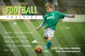 Kids football training poster