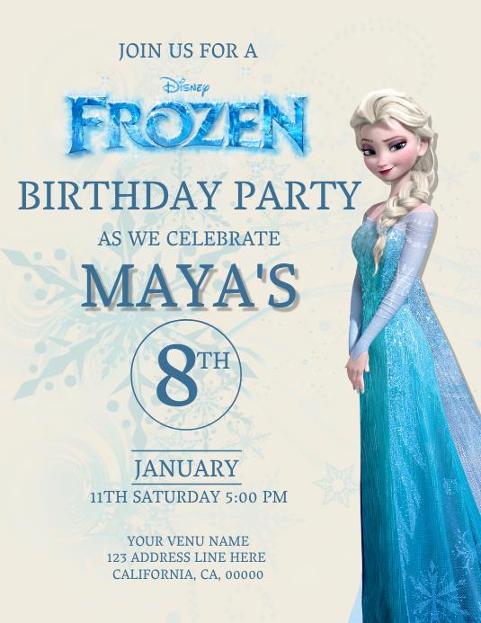 Kids Frozen Birthday Invitation Template