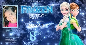 Kids Frozen Birthday Invitation Template Gambar Bersama Facebook