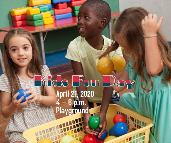 Kids Fun Day Medium na Rektangle template