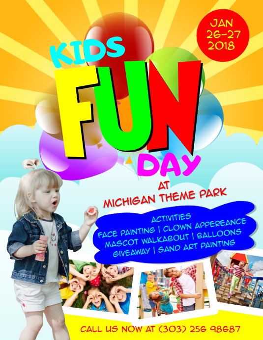Kids Fun Day Flyer Template | PosterMyWall