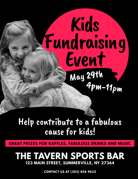 Kids Fundraising Event Flyer